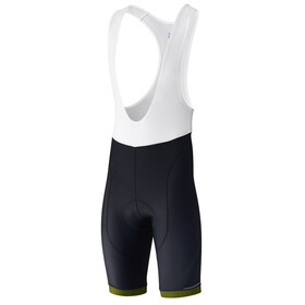 Shimano Aspire Bib Shorts Heren, black/lime yellow
